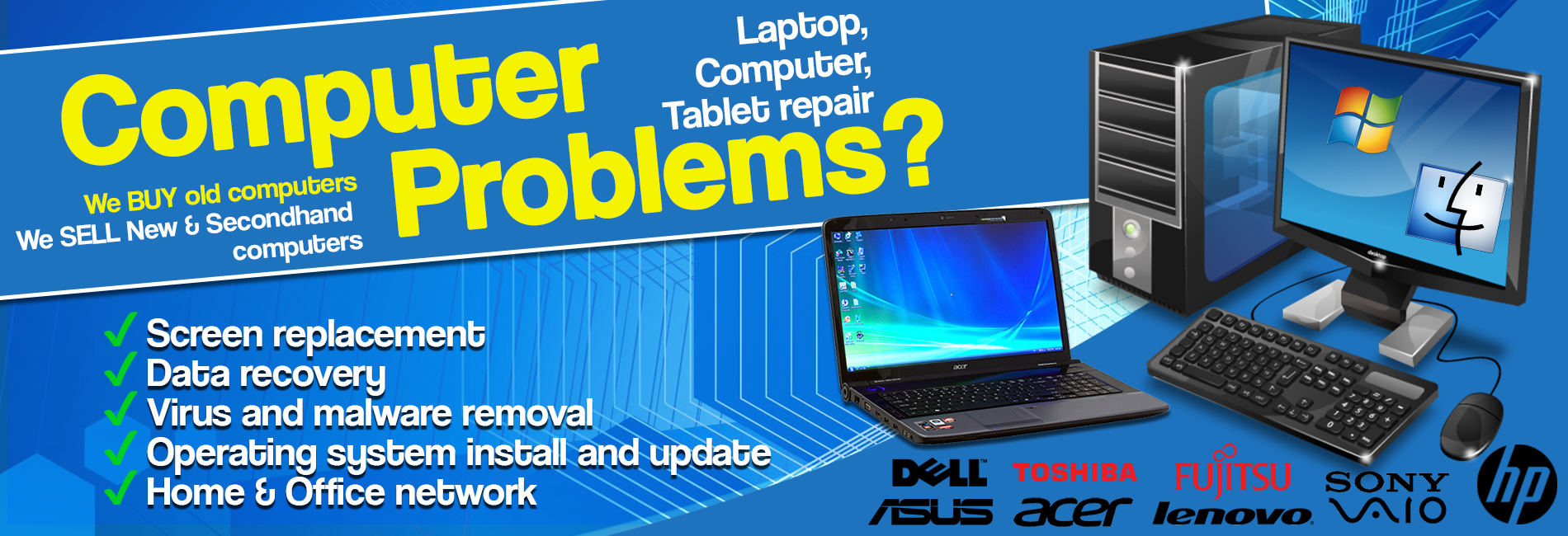 Laptop Repair Services in Udaipur | LENOVO, DELL, HP Service